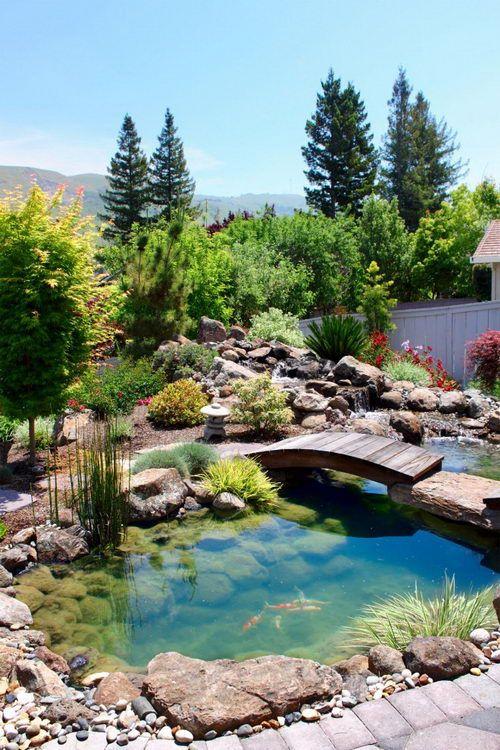 Красивый сад на даче фото
