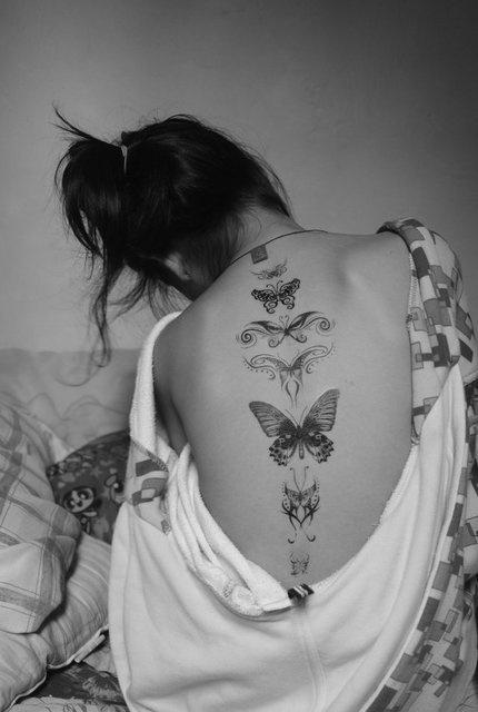 фото черно белые татуировки