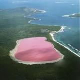 Розовое озеро или озеро Хиллер